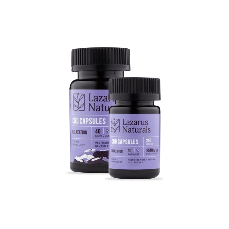 Lazarus Naturals Relaxation Blend 25mg CBD Isolate Capsules