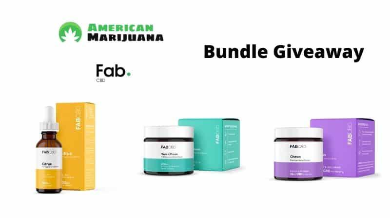 FAB CBD Oil Chews Topical Cream Bundle Giveaway