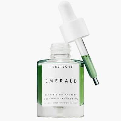 CBD Moisturizer: Herbivore Botanicals Emerald CBD + Adaptogens Deep Moisture Glow Oil