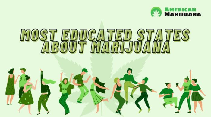 most educated states about marijuana