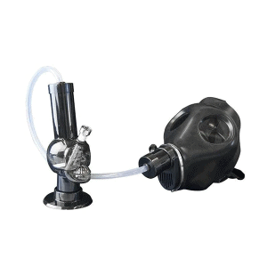 Weed Gas Mask Bong and Tubing