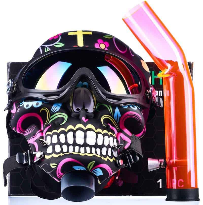 Dia de Los Muertos Mask Bong by World Of Bongs