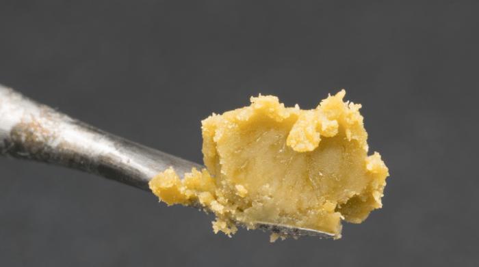Hash rosin on scoop