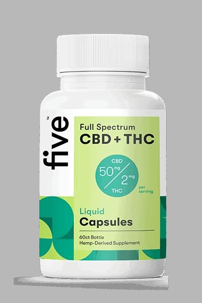 Five cbd + thc capsules